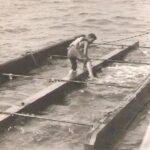 Photograph man on target raft