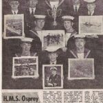Article newspaper clipping Peregrine Trophy Winners HMS Osprey