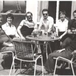 Photograph L-R ?. Jan Redfern , Rick (Chad) Toyer, Ropger Giles, Julie  Wynn, Dutchie Mulholland, Chris Bryne