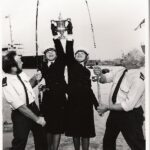 Photograph Two WRNS Holding Peregrine Trophy