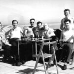 """Photograph Remarks/People  Involve.  Fleet Gunnery Exercise Gibraltar c1964. The Phots were  billeted at an old army camp at Europa Point with the Fleet clearance diving  team. L-R Chick Fowler, Dave """"Taff"""" Eyres, Nigel Craft, Len Wilmot, Sharky  Ward. + probably two Clearance divers."""