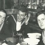 Photograph Remarks/People  Involve.  L-  R Ben Cartwright, Russ Walley and unknown in bar in Amsterdam  Date/Date  range . c-1968  -