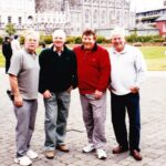 , Photograph  Former RN photographer Steve Potten, second right, was working in Dublin when he met up with a trio of holidaying shipmates from HMS Victorious' first commission. Peter Thorne, left, Ray Pogson and Bill Porter later joined Steve for a glass or three of Guinness in Mulligan's       Date / Date range   not known