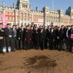 Photograph Cenotaph marchers before the march Missing   from the   picture,   Paul   Hopley,   Ric   Burch,   Richard   Thompson  Ship/Place/Originator   Horse  guards  parade ,Date/ Date Range  10-11-2019