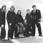 Photograph. HS 300 team on Hermes round down Note  Broken Mag - Hit by Gannet hook