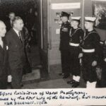 Photograph Lord Mountbatten opening Ilford Exhibition of Naval Photography
