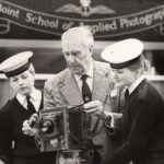 Photograph two WRNS and instructor with Watson