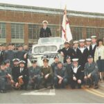 Photograph Pete Grigsby being towed out of RAF Cosford - farewell
