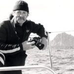 Photograph Ray Pogson aboad FCF Challenger in Round the world Yacht Race