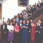 Group Photograph Lt Cdr John Coomes retirement in Wardroom