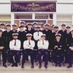 Group Photograph after Senior Rates meeting with Drafty, Lt Cdr Charlie Wines