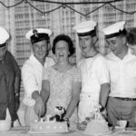 Photograph Remarks/People  Involve.  L-R Nigel Craft, Terry Darker, Terry's Sister, Paddy  Purcell, Frank Calder, Terry's Niece Christmas 1965 (Ark Royal) Freemantle,  Australia at the home of PO Terry Darker's Sister.