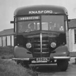 Photograph Remarks/People  Involve.  Bedford CF bus outside the school at Ford picking up Phots  to go to the living site