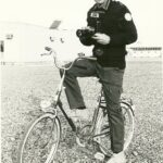 Photograph Remarks/People  Involve.  Mike  Gilbert as a MFU Sinia Force Photographer on the units bike  Date/Date  range . c-1985  -