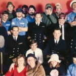 Photograph Remarks/People  Involve.  Back row L to R   Terry Hogan ? Brian Peters, the Tiff camera repair man, Brian Roberts in the  beret, Unknown Bill McRobbie (deceased), Grant Hindle, Looks like   Middle row L to R   Chief Harry Graham, Jill Purves , Tom Breuilly , Stewart? , Lt Cdr Paul Johnson,  Taff Morgan, Chief Phot Chuck Jones USN, Trevor 'Dutch' Holland,   Seated L to R   Lt JG Bob Lister USN, John Farrow, Lt Tony Fisher,   front row L to R   Lynne Loughlin (nee Johnson), Pete Howton, Chris Honour (nee Jamieson), Gary  Nixon