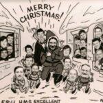 Christmas Card Others.     Rod  Safe, John Coombs, John Farrow, Bob Pearce, Peter Bunting, Mac McKenzie,  Tom Brieully, Rick Birch, Ric Toyer,  Grant Hindle?