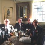 Photograph Some of the marchers from the Remembrance day Parade on Horseguards in a pub of course L-R Paul Wellings, Slinger Wood, Bob Stanyard, Maurice Brailey, Ian Hooper, Danny du Feu