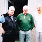 , Photograph Ray Pogson, centre, met up with former HMS Fulmar photographers' Terry Gill, left, and Tony Spring at the latter's home in Lossiemouth whilst returning to Yorkshire from a fishing holiday at Cape Wrath.     Date / Date range  c 2005
