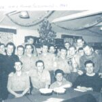 , Photograph Fondly regarded as one of the best messes to be accommodated in by RNAS Lossiemouth-based photographers, 26 Mess (Miscellaneous) contained writers, sick-bay staff, SAR aircrew, seamen and safety equipment ratings. Among the photographers pictured are Bill McRobbie, Alfie Tubb, Brian Lowe and Ian Paterson.