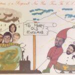 Christmas card From the Clyde Submarine Base Paul Parrack, Bill Simpson + ?