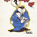 """Book of cartoons By Photographic Officer Lt """"Tugg"""" Wilson Ship/Place/Originator  HMS Eagle ,Date/ Date Range  1969/70"""