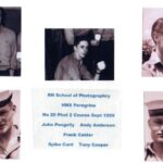 Photograph Course Group No 20 Phot 2) Andy Anderson, John Pengelly, Frank Calder, Tony Cooper, Spike Card   Ship/Place/Originator   Ford ,Date/ Date Range c 1955/6