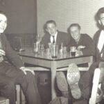 "Photograph Run Ashore with near empty galsses L-R. Keith ""Blossom Hartle, Alex Jamieson, Albert King, Dave Matthews"