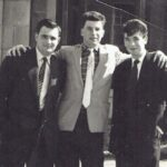 Photograph L-R Bogie Knight, Mike Keeling, Paul Yockney Ship/Place/Originator   Lossiemouth ,Date/ Date Range c1957/58