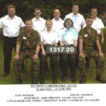 Photograph Course 1317 No 20   Back. AEM1  Wenham C J ALCH  Milne A R,  AB(  R) Preston S H,  NA(AH)1  McClure I J, OM(VW)1  Osmond C L   Front.  Army, WOM(  C)1 Hartman J B,   WOM(  C)1 Andrews J M,Army       (Donny Osmond,  Chris Wenham, Jan Hartman, Shaun Preston,)