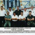 Photograph Course 1317 No 14 Back.     CH1  Armes G,  ALS  R0 Haycock S A, Army,   AEM  1 Boyd K(CT), AEM  1 Madden L K  Front.  Army, WRO Reynolds A J, WEM(O)1  Dent J,  Army       (Yam Yam  Reynolds, Maz Marriot, Steve Haycock)